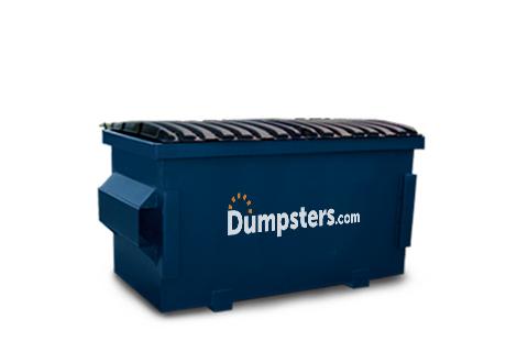 A Blue 2 Yard Front Load Dumpster