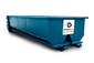 Blue 20 Yard Dumpster With Dumpsters.com Logo