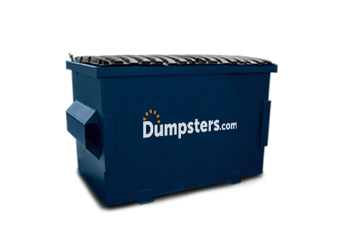A Blue 4 Yard Front Load Dumpster