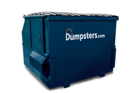 A Blue 6 Yard Front Load Dumpster