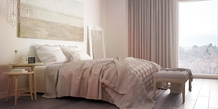 Neutral Bedroom with Comfy Platform Bed