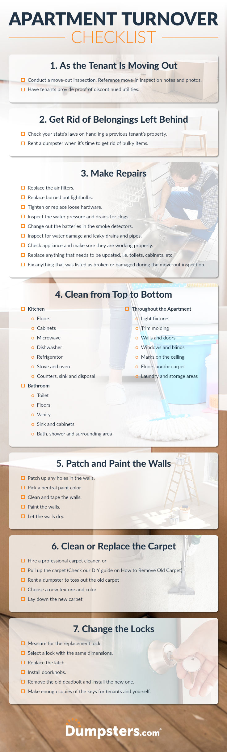 A Landlord Apartment Turnover Cleaning Checklist | Dumpsters.com