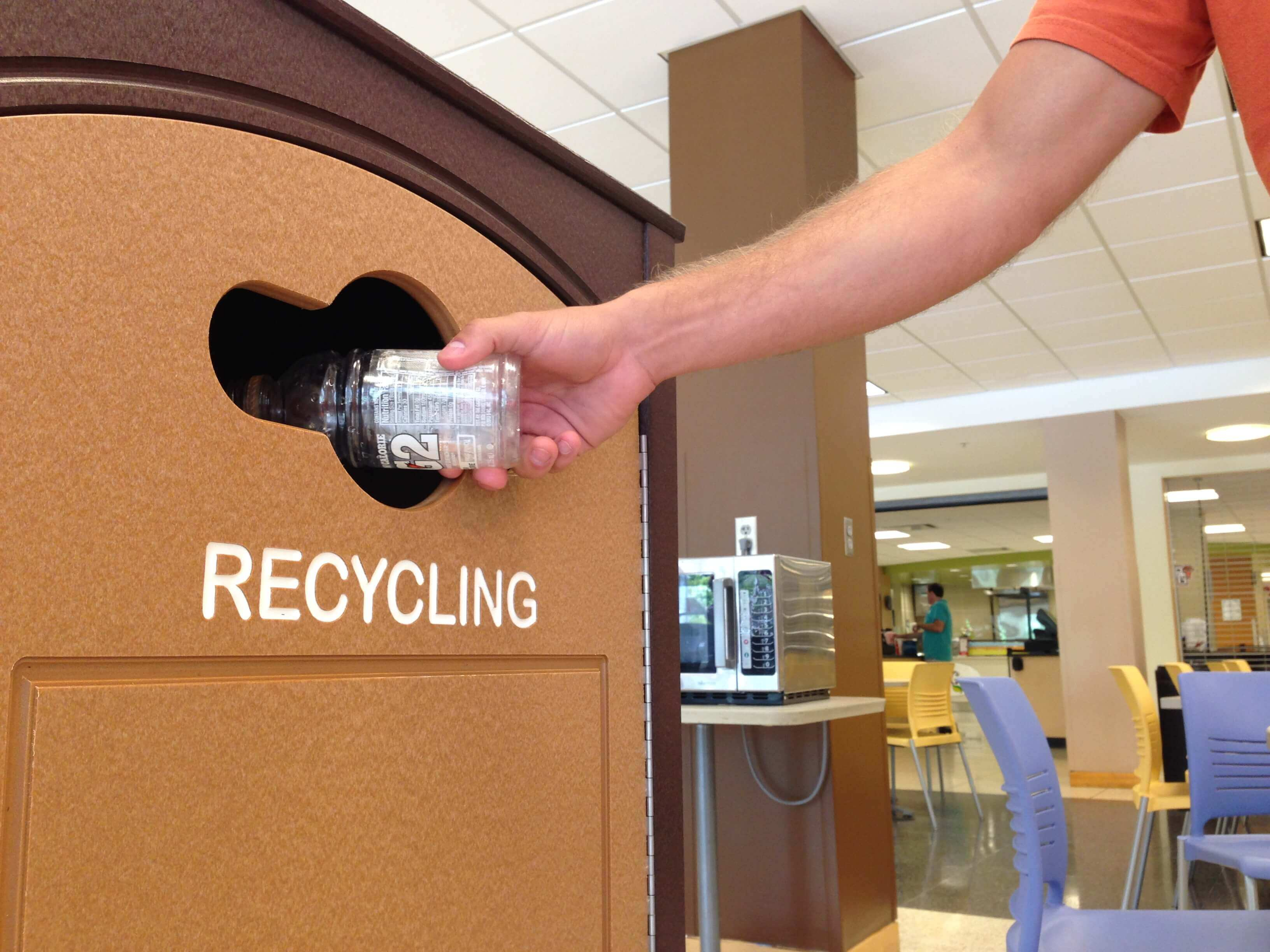 Recycling Bin Boosts Campus Sustainability