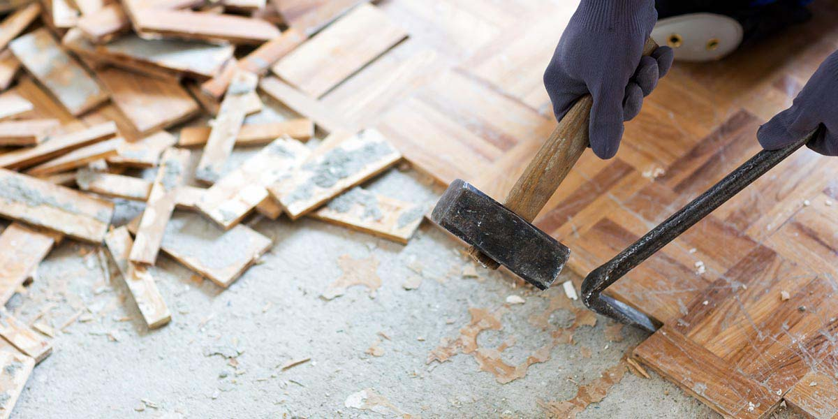 How To Remove Wood Flooring Dumpsters Com