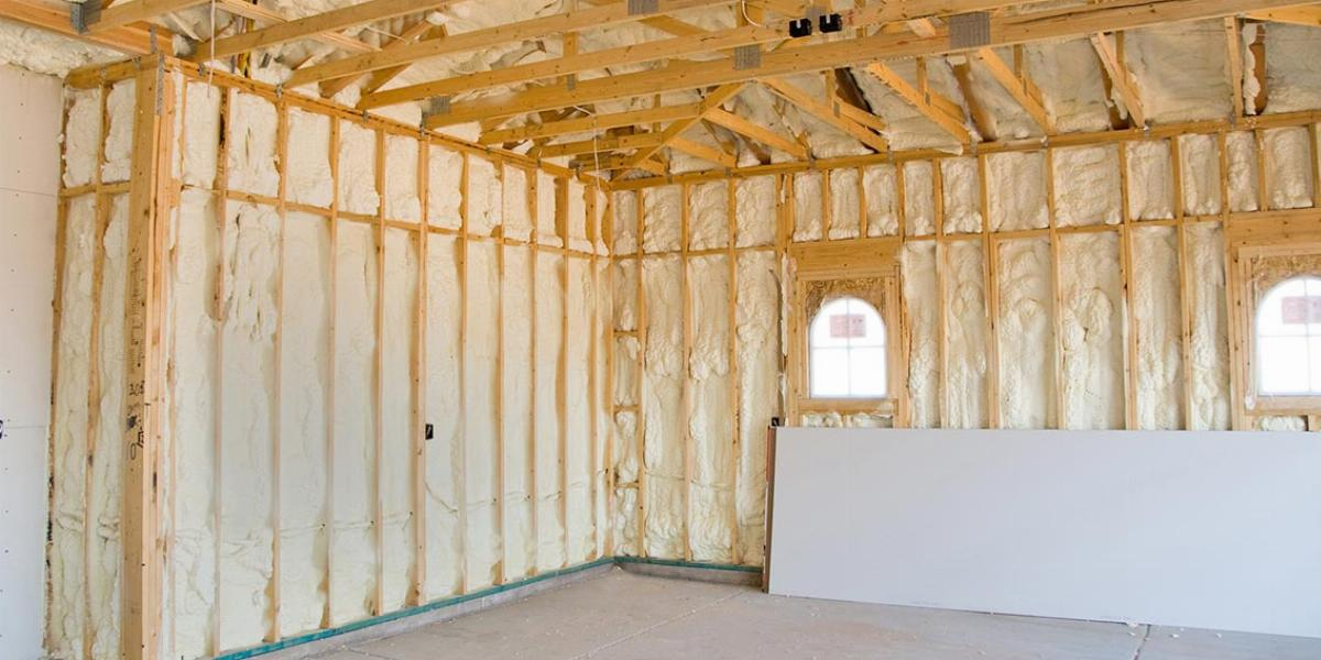 Inside Of Garage With Studs Filled Insulation How To Insulate A