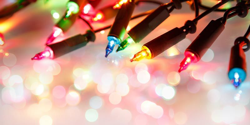 A String of Colorful Christmas Lights.