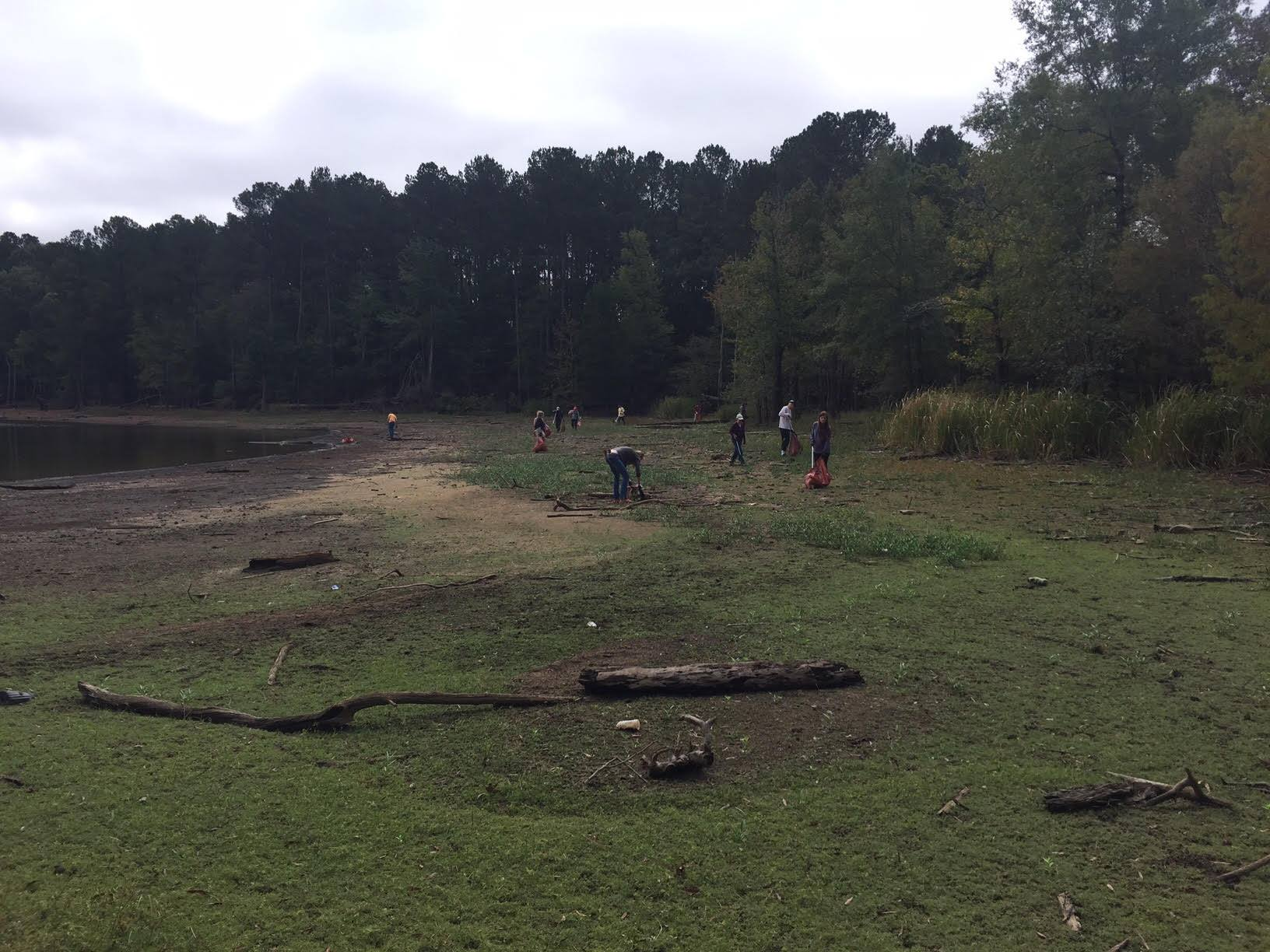cleaning up jordan lake