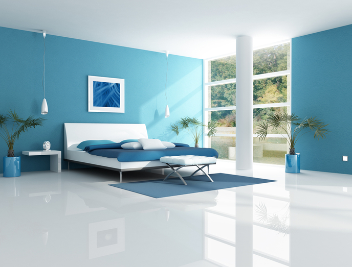 Blue Bedroom and Mood