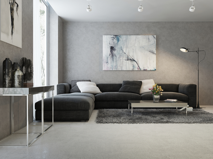 Gray Living Room Color and Mood