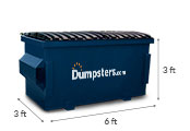 2 yd dumpster dimensions