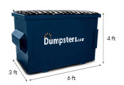 4 yd dumpster dimensions