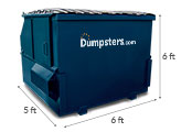 6 yd dumpster dimensions