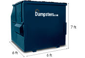8 yd dumpster dimensions