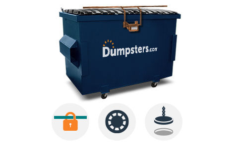 Front Load Dumpster With Lock Bar