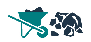wheelbarrow full of heavy debris