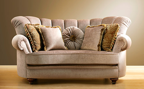 vintage couch with cushions