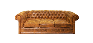 A Brown Couch.