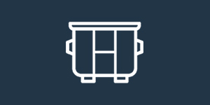 dumpster rental icon