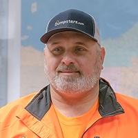 Dumpsters.com Roll Off Truck Driver Eddie Spychola.