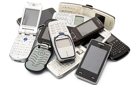 A Pile of Cell Phones.