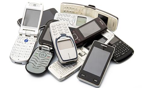 a pile of flip phones