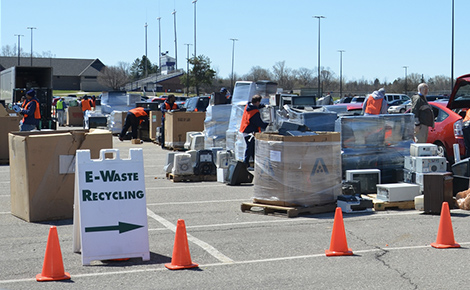 photo of an e-waste recycling event