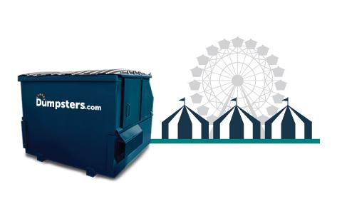 Front Load Dumpster for Event