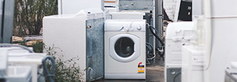 Old Washing Machine, Dryer and Fridge.