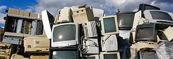 Old Computer Monitors and Other E-Waste.