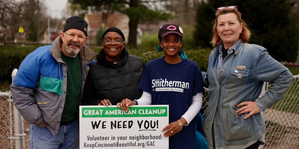 Great American Clean Up Volunteers