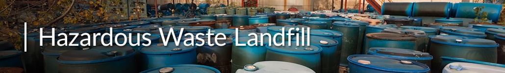 Drums of Hazardous Waste Before Transportation to a Hazardous Waste Landfill.