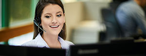 Woman With a Headset in Office