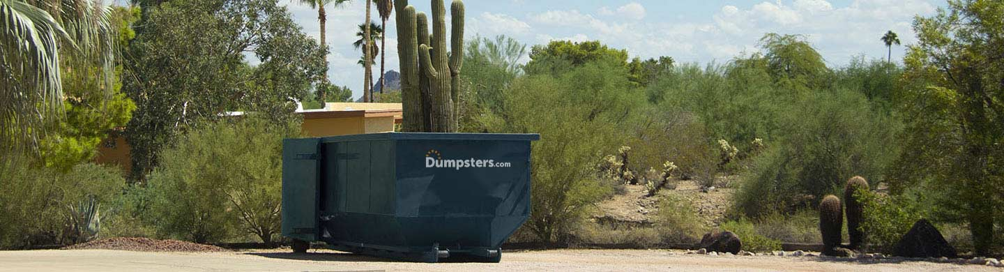 Roll Off Dumpster in the Desert.