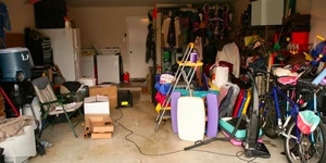 A Garage Filled With Junk.