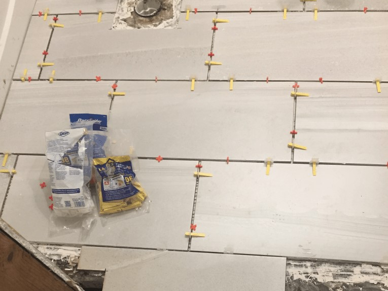 Tile Floor Installation Using Spacers