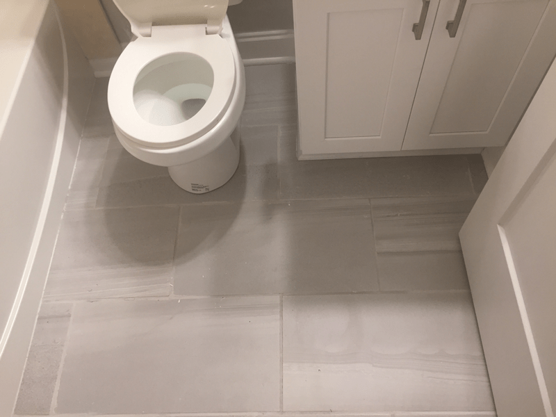 Grout Applied to Tile Floor