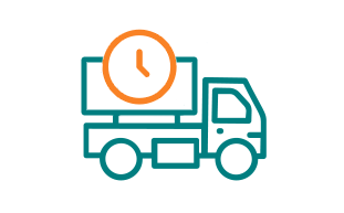 Image of Truck With Clock.
