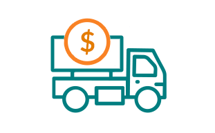 Image of Truck with Dollar Sign.