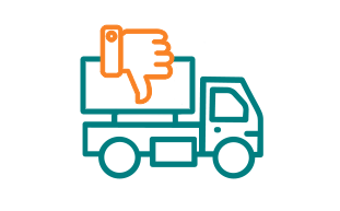 Image of Truck with Thumb Facing Down.