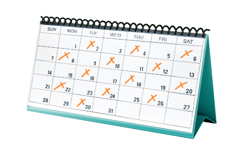 Commercial Dumpster Service Calendar