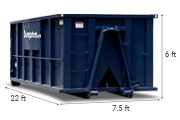 30 yd dumpster dimensions