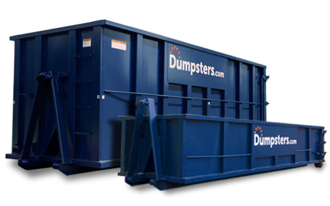 dumpster rental in front of home