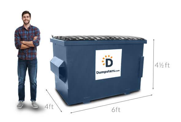 Get A 4 Cubic Yard Dumpster Rental Dumpsters Com