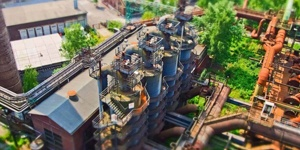 A Factory Amongst Trees.