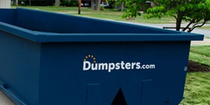 Blue Dumpsters.com Roll Off Dumpster.