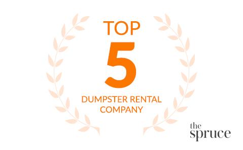 Top five dumpster rental company via The Spruce.