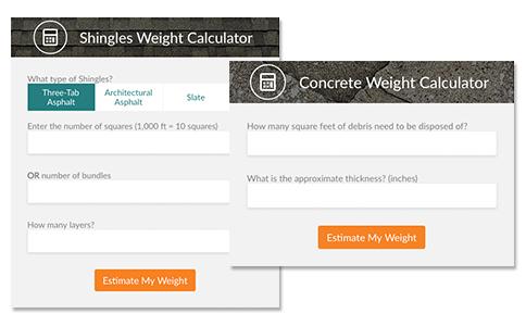 weight calculator screenshots