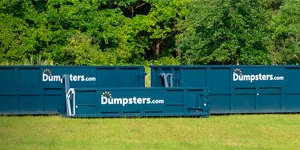 Blue Dumspters.com Roll Off Dumpsters.