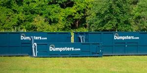 Blue Dumpsters.com Roll Off Dumpsters.
